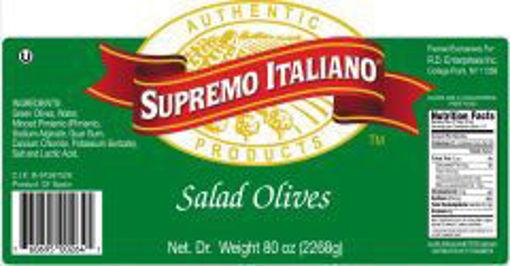 Picture of Supremo Italiano - Salad Olives - 1 gallon, 4/case