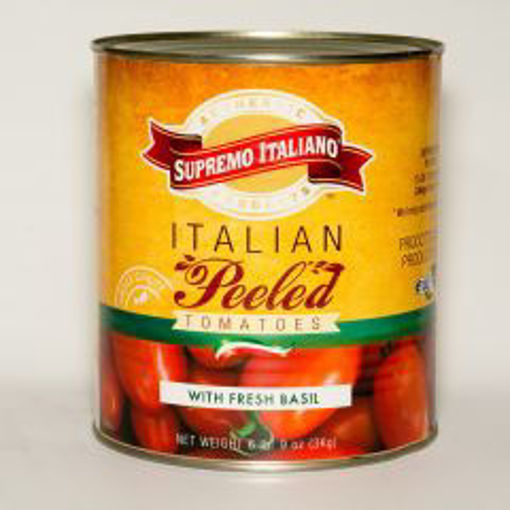 Picture of Supremo Italiano - Peeled Italian Tomatoes with Basil - #10 can, 6/case