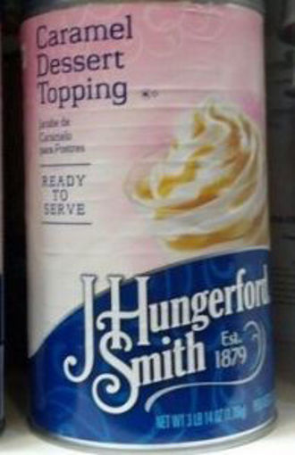 Picture of J. Hungerford Smith - Caramel Topping - 46oz. Can, 6/case