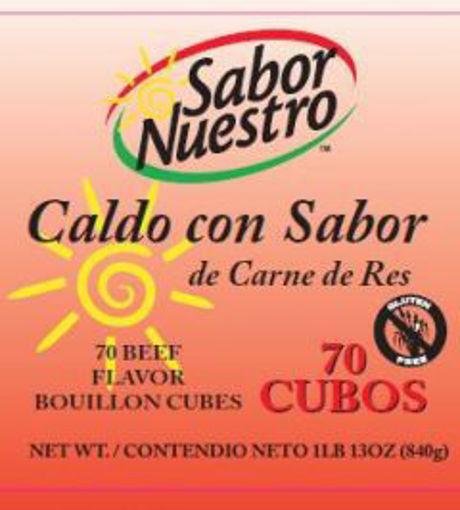 Picture of Sabor Nuestro - Beef Flavor Bouillon Cubes - 70 ct Jar, 6/case