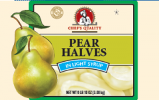 Picture of Chefs Quality - Pear Halves in Light Syrup - #10 cans, 6/case