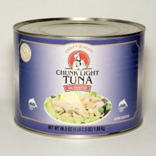 Picture of Chefs Quality - Chunk Light Tuna in Water - 66.5 oz Can, 6/case