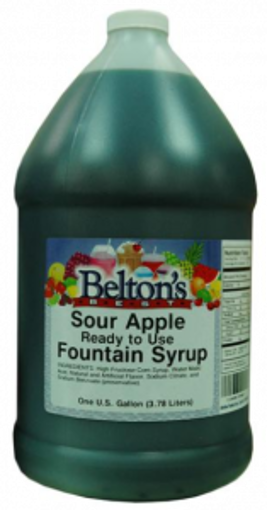 Picture of Beltons - Sour Green Apple Flavored Syrup - 1 gallon, 4/case
