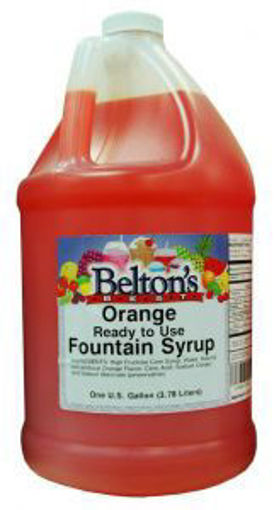 Picture of Beltons - Orange Flavored Syrup -1 gallon, 4/case