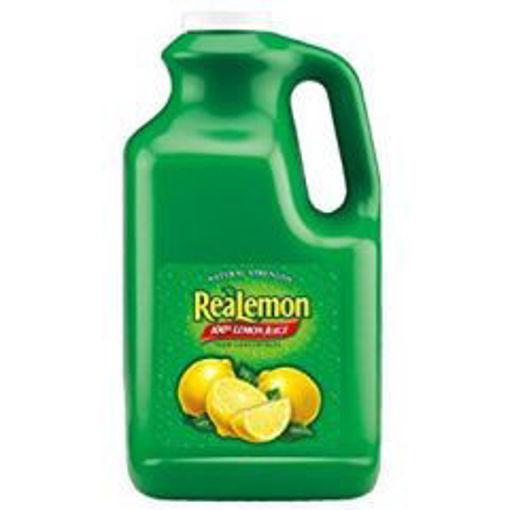 Picture of Realemon - 100% Lemon Juice -1 gallon, 4/case