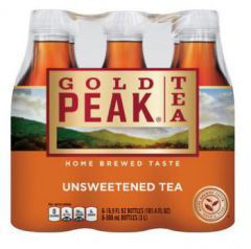 Picture of Gold Peak - Unsweetened Iced Tea - 12/18.5 oz plastic bottles