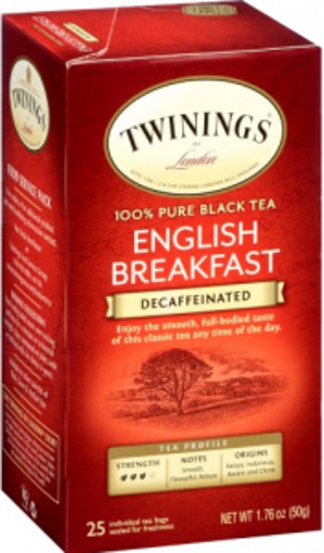 Picture of Twinings Tea - English Breakfast, Decaffeinated - 25 Ct, 6/case