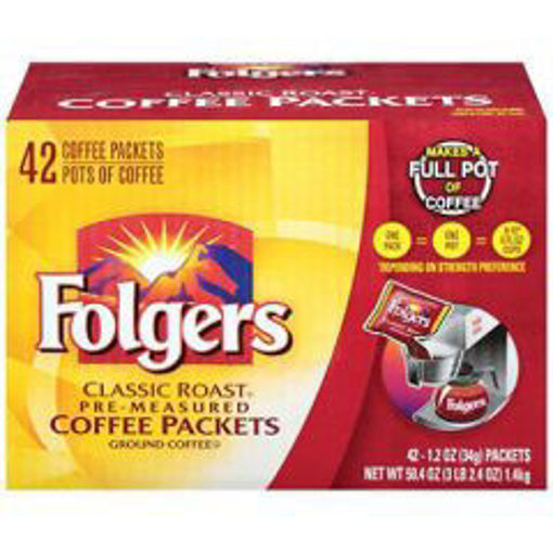 Picture of Folgers - Classic Roast Ground Coffee Packets - 42/1.2 oz packets