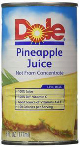Picture of Dole - Pineapple Juice - 48/6 oz cans