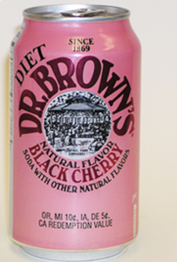 Picture of Dr. Browns - Diet Black Cherry Soda -24/12 oz cans