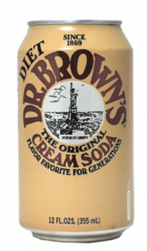 Picture of Dr. Browns - Diet Creme Soda -24/12 oz cans