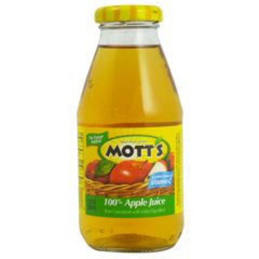 Picture of Motts Apple Juice - 24/10 oz glass bottles