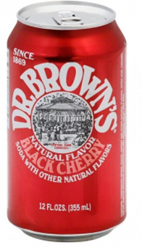 Picture of Dr. Browns Soda - Black Cherry 24/12 oz cans