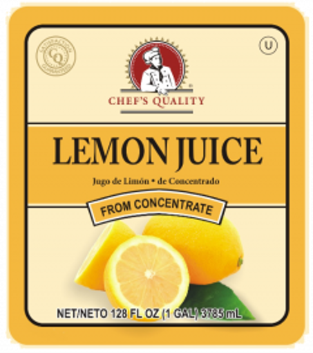 Picture of Chefs Quality - Lemon Juice - gallon, 4/case