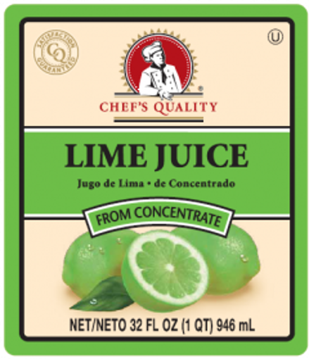 Picture of Chefs Quality - Lime Juice - 32 oz Bottle, 12/case