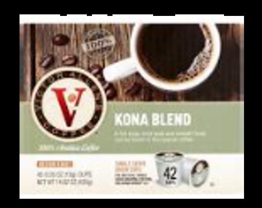 Picture of Victor Allen - Single Serve Kona Coffee Blend - 42 ct