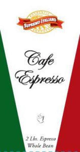 Picture of Supremo Italiano - Whole Bean Espresso Coffee - 2 lbs, 8/case